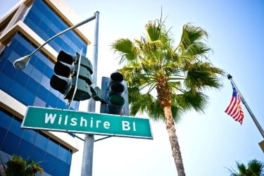 Wilshire Boulevard traffic sign