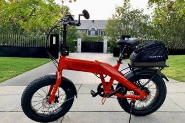 E-Bike parked outside a big house
