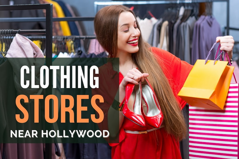 Woman shopping for clothes - Clothing Stores Near Hollywood