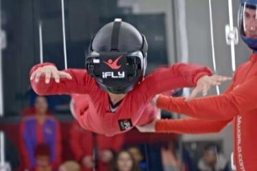 Indoor Skydiving with VR machine