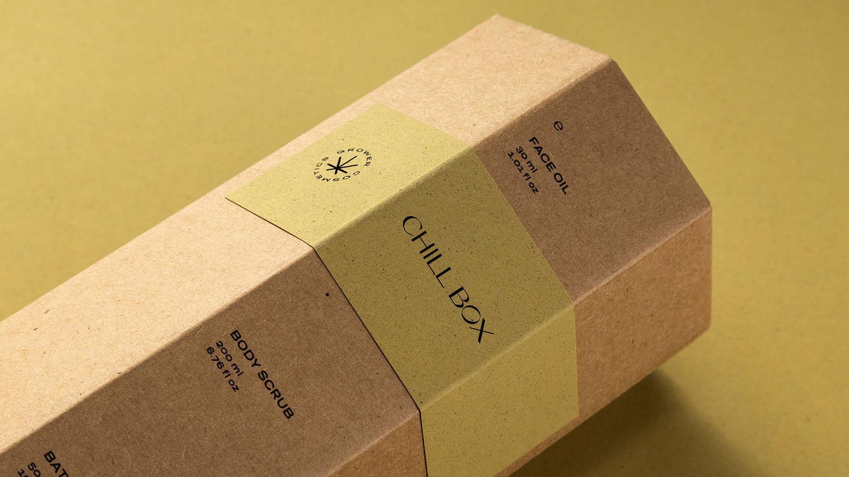 Подарочная упаковка эко-косметики на основе конопляного масла Гровер
