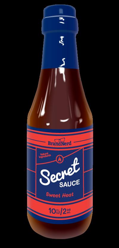 A bottle of BrandNerd Secret Sauce