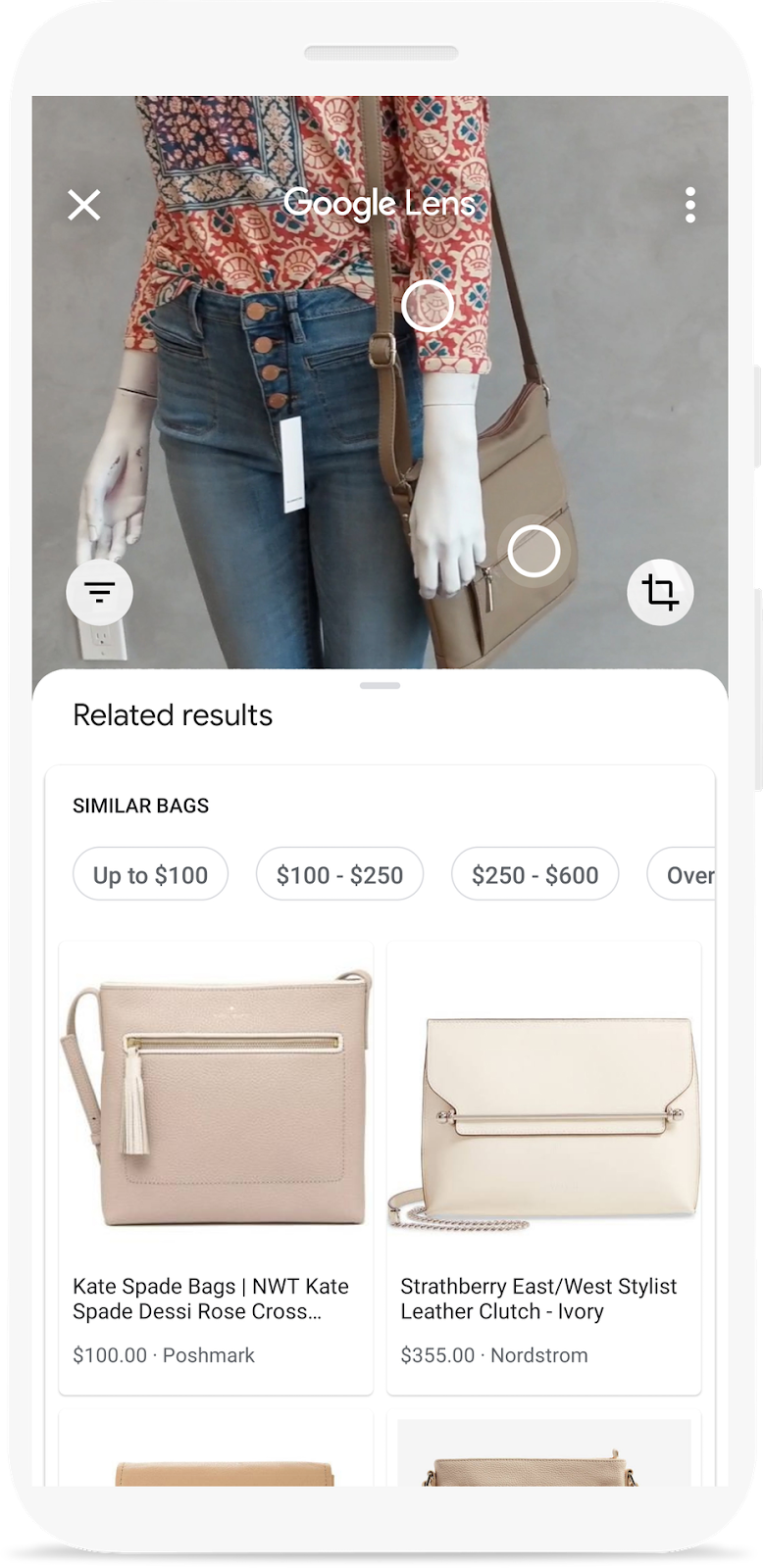 Google Lens promotional image on find products