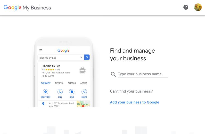 Screenshot for Google My Business