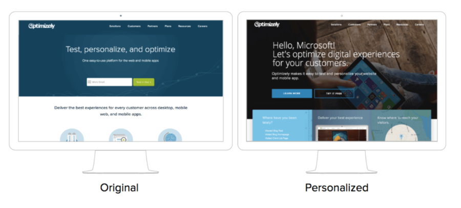 optimizely personalized content