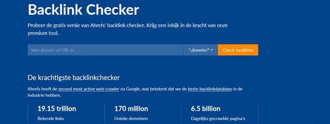 Ahref backlinks checker