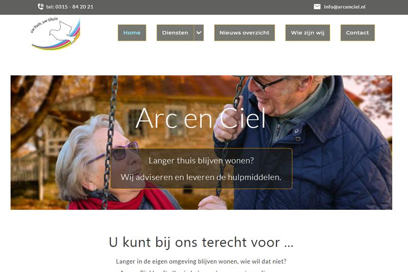 screenshot website arc en ciel