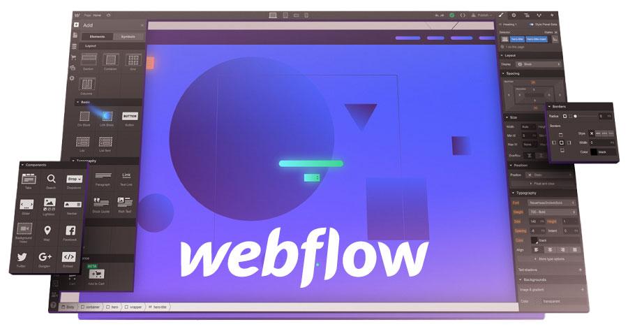 webflow editor screenshot