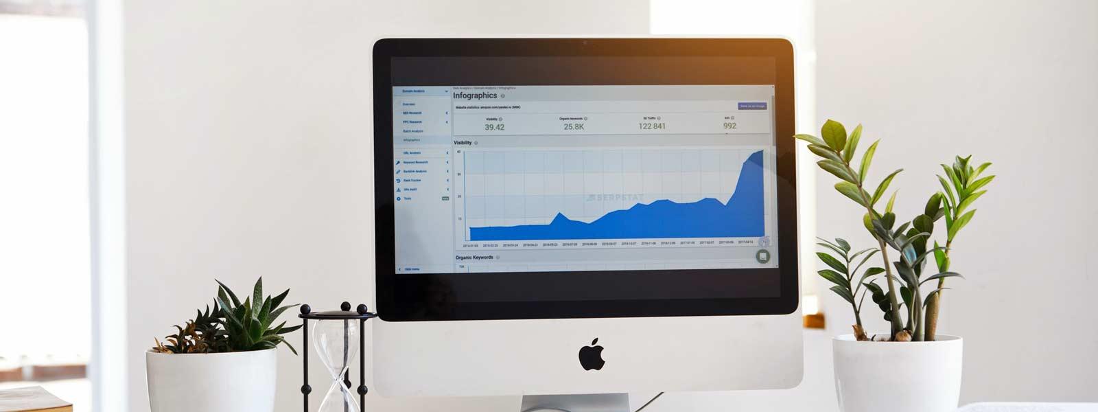 grafiek op een computer scherm