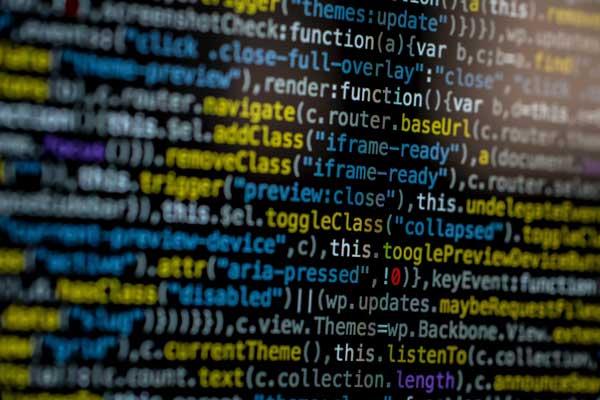 computerscherm vol met programmeer code