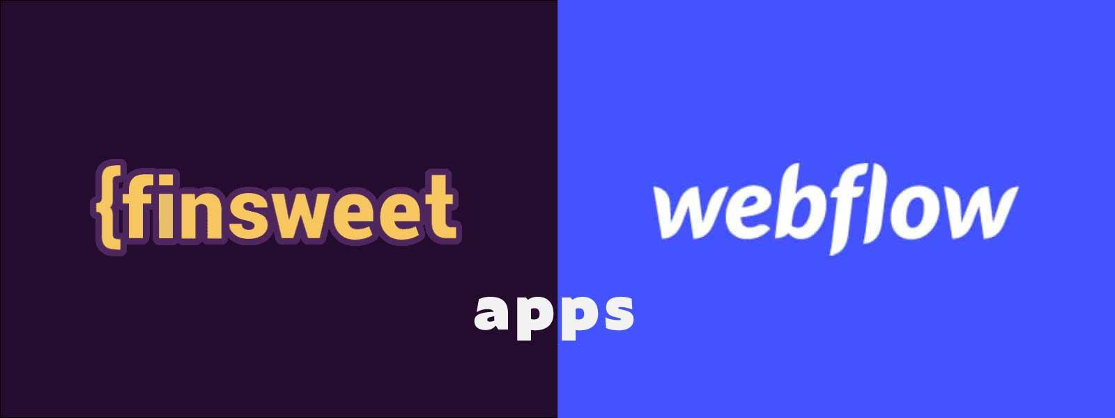 finsweet en webflow logo