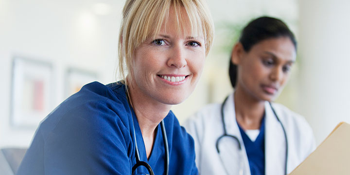 Nurse and doctor image.