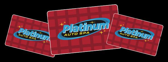 platinum auto spa gift cards