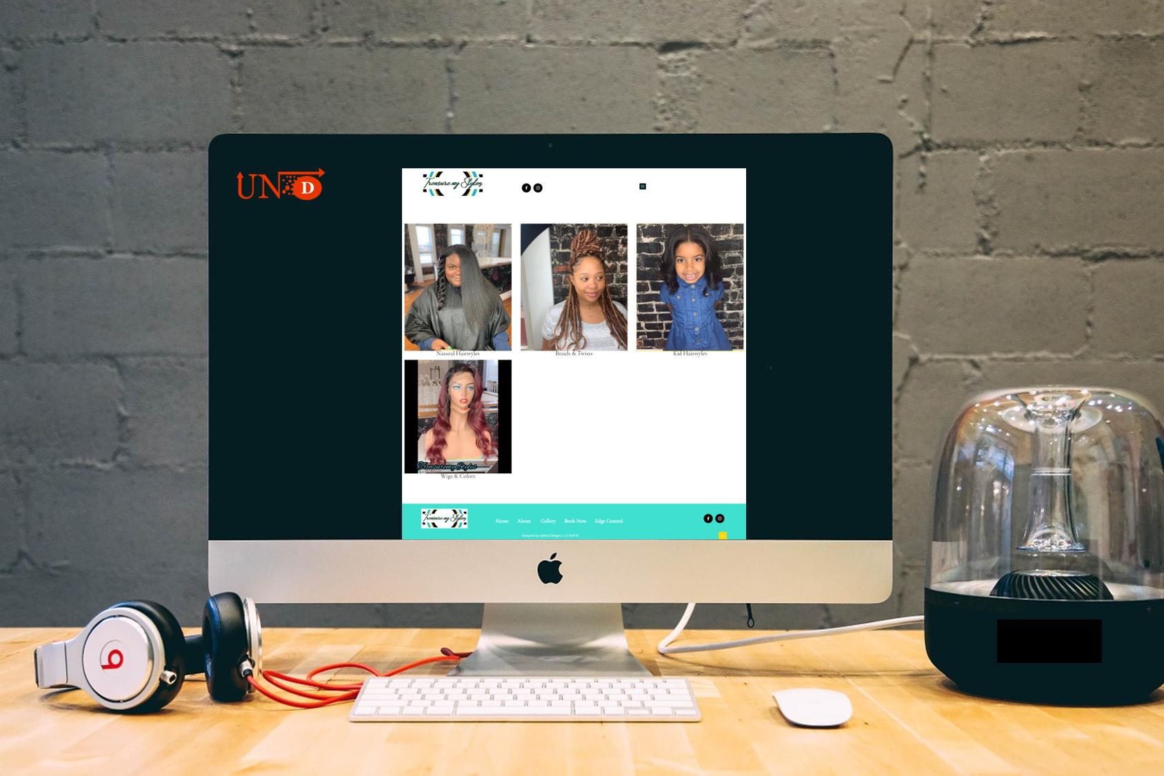 Treasure My Stylez, Responsive Web Design by UpNext Designs LLC
