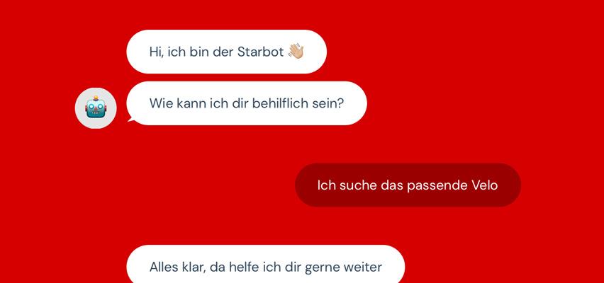 Digitale Beratung mit dem Starbot