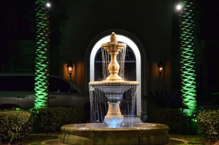 Fountain Landscape Lighting Company Woodforest Texas