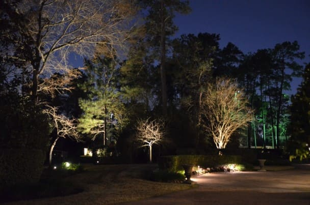 Trees Landscape Lighting Company The Woodlands Texas