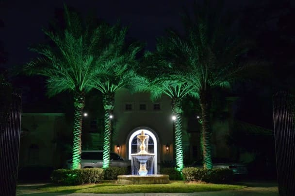 Fountain Landscape Lighting Company The Woodlands Texas