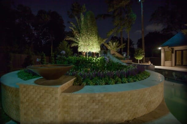 Flowerbed Landscape Lighting Company The Woodlands Texas