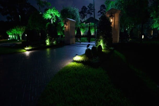 Gate Landscape Lighting Company The Woodlands Texas