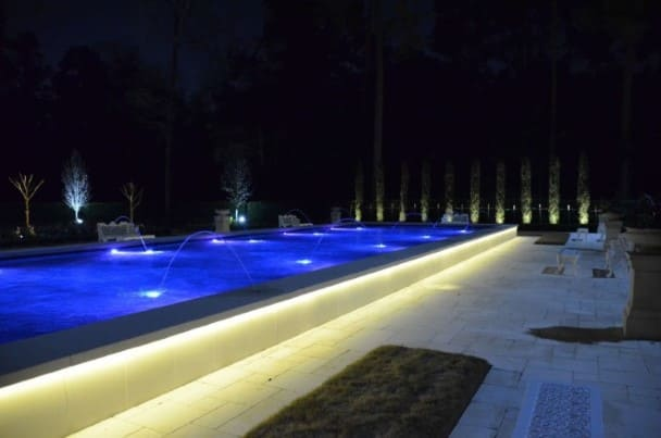 Pool Landscape Lighting Company The Woodlands Texas