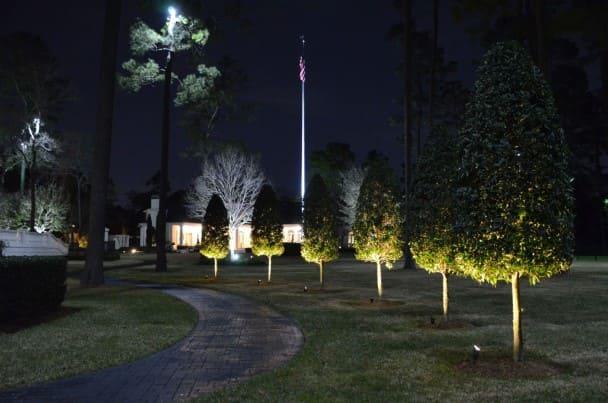 Yard Landscape Lighting Company The Woodlands Texas