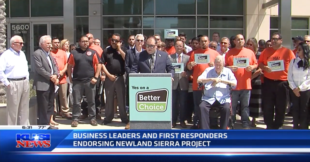 KUSI: Business Leaders and First Responders Endorse Newland Sierra Project