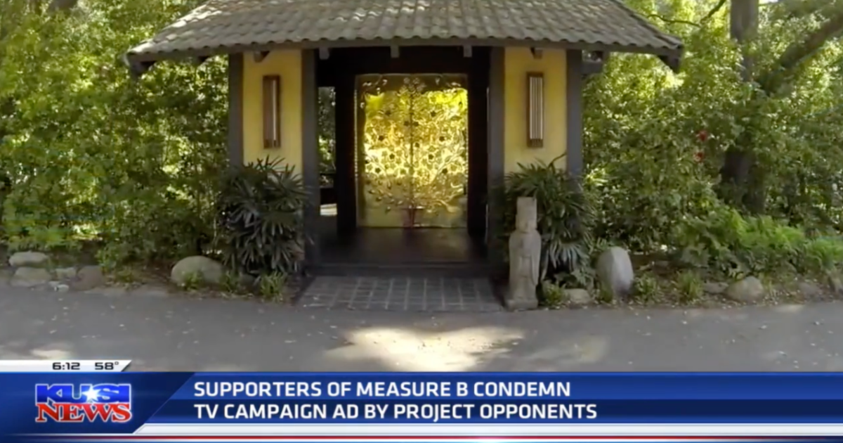 Supporters of Measure B condemn TV campaign ad by project opponents