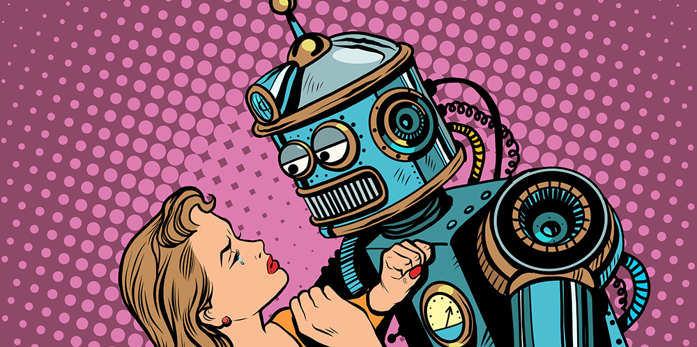 illustration-of-robot-and-woman