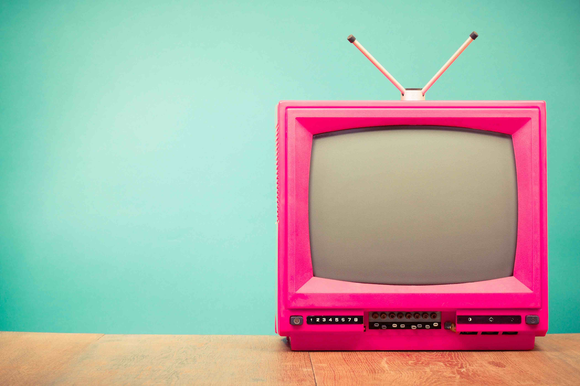 old-fashioned-pink-tv