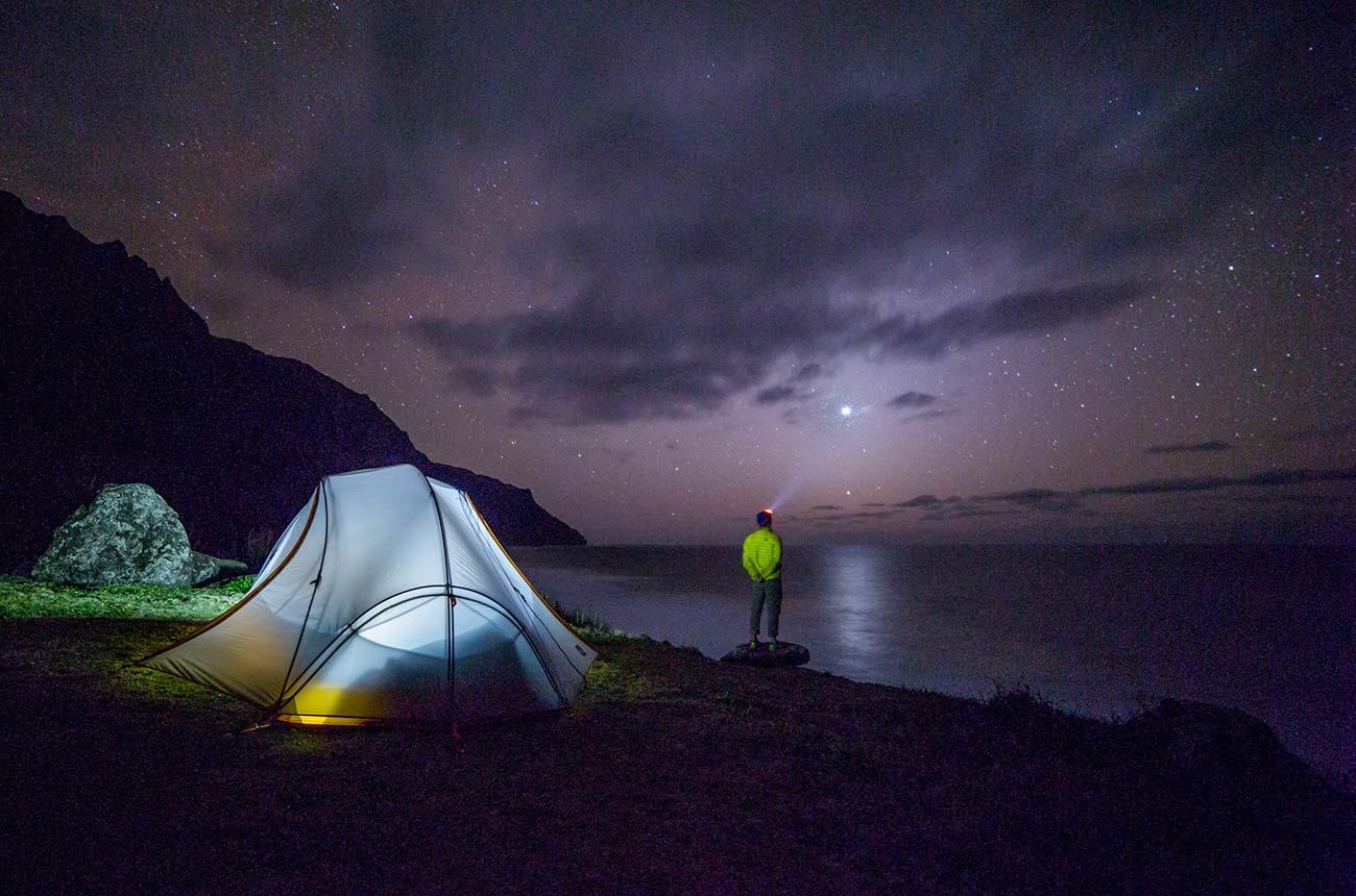 nighttime-campsite