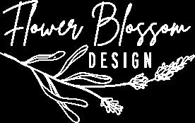 flower blossom design logo