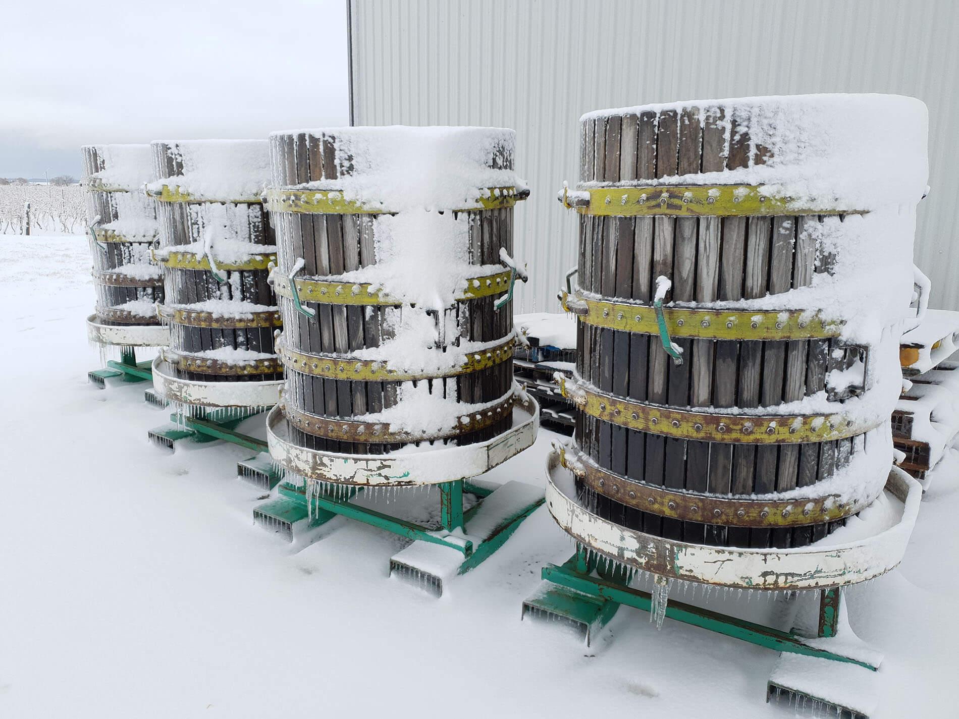 Ľadové víno - sudy