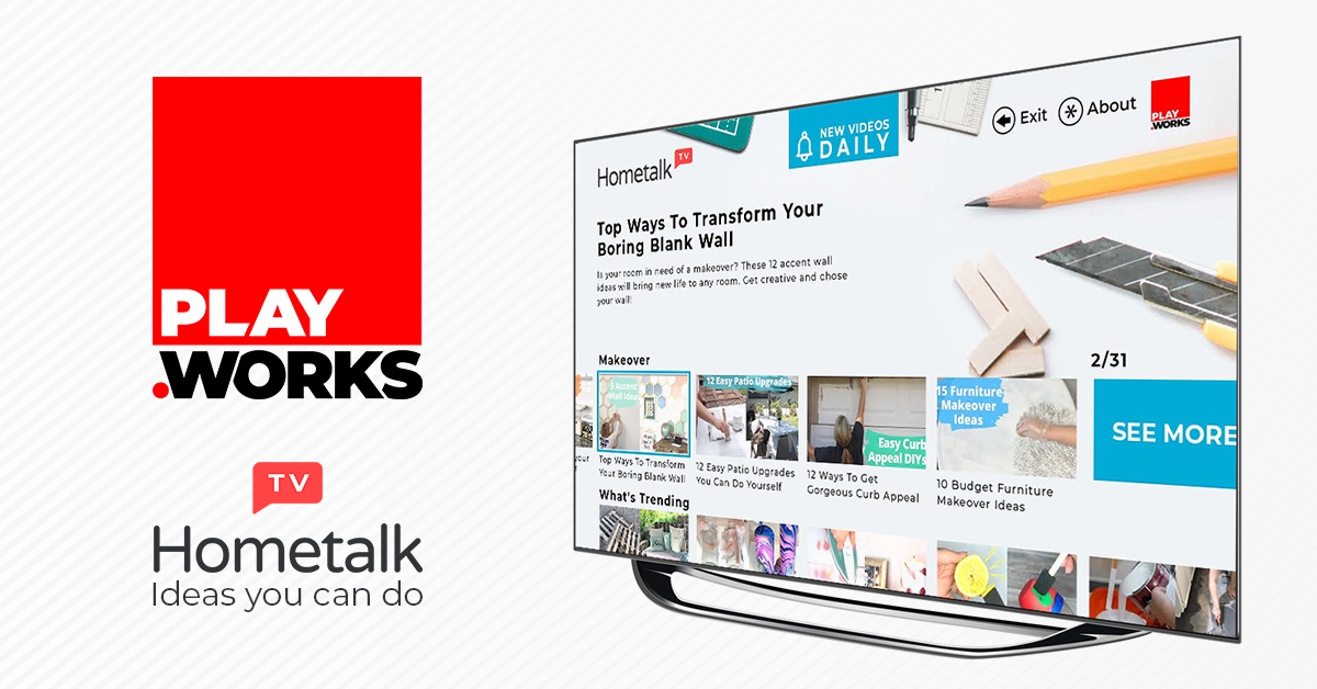 PlayWorks and Hometalk Partner to Launch the HometalkTV AVOD Channel on Roku