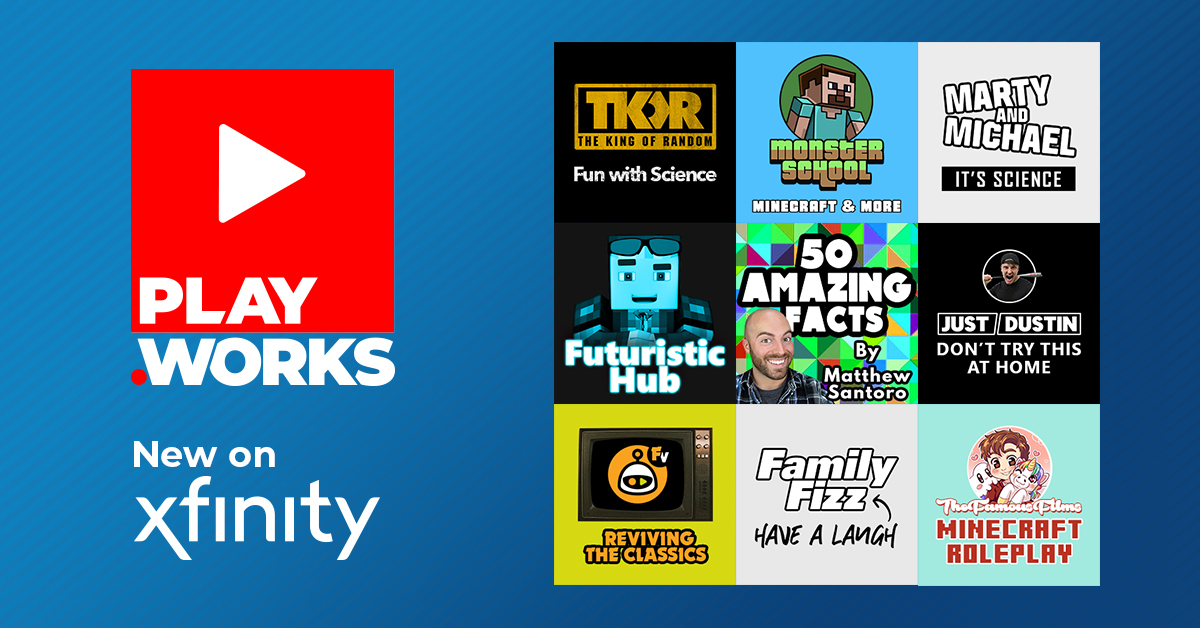 PlayWorks Digital Limited Launches 9 New AVOD Apps Live on the Comcast Xfinity X1