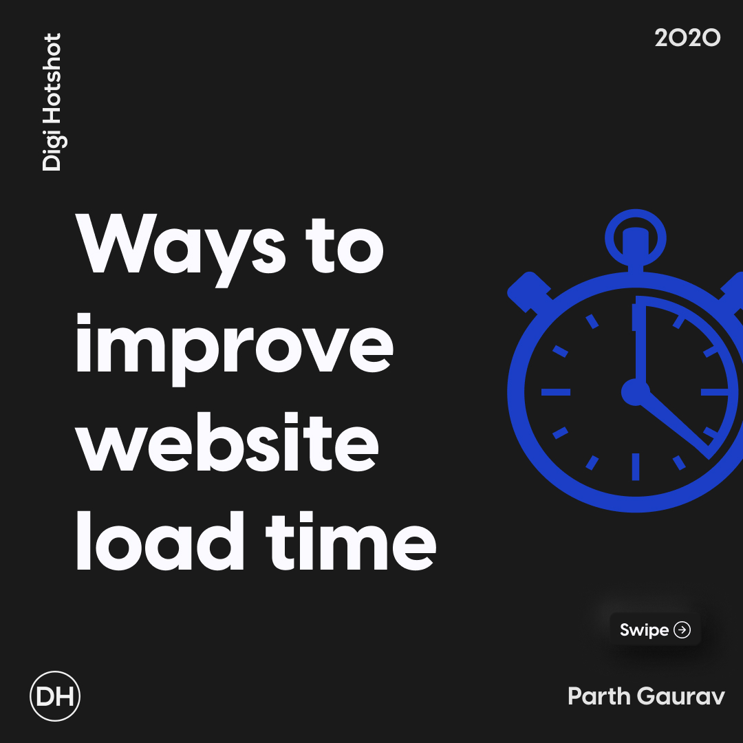Ways to improve website load time