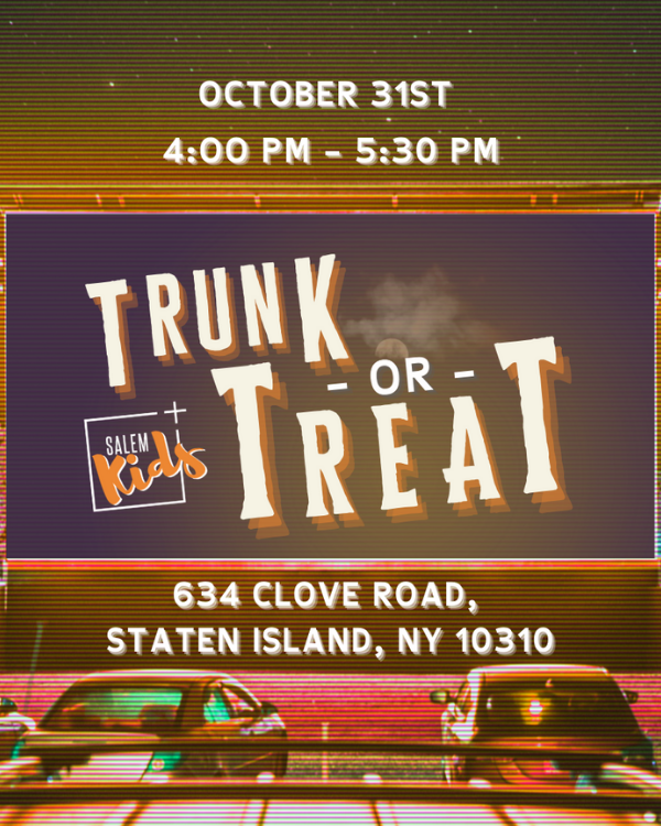 Trunk or Treat - October 31st, 4:00-5:30pm