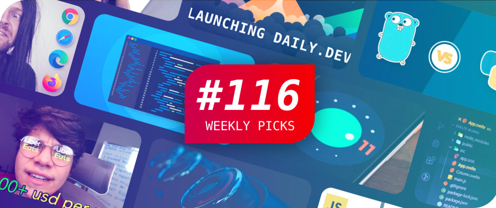 🤯 Web APIs, JavaScript, Daily.dev, Giveaway, and More — Weekly Picks #116