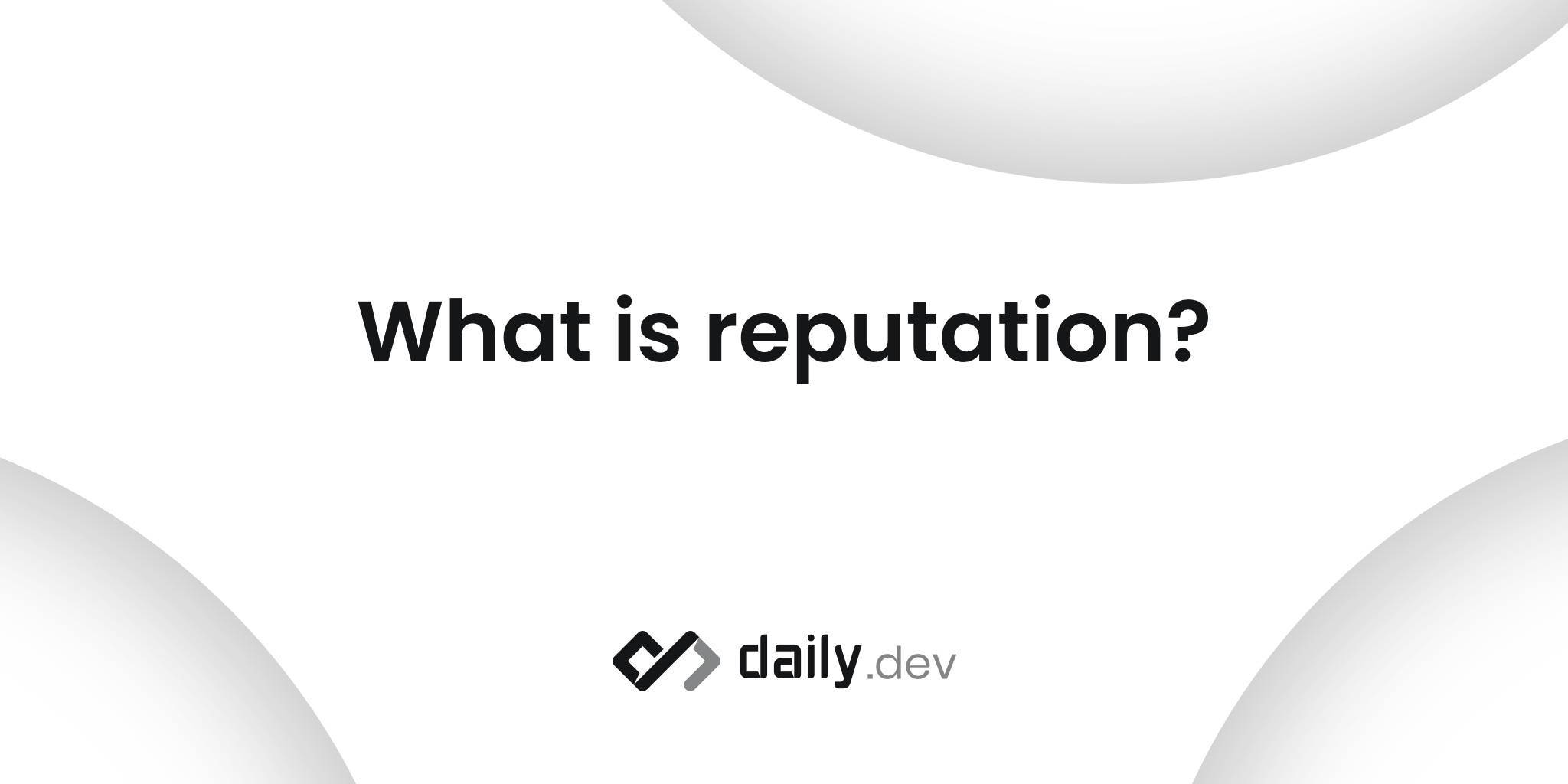 What is reputation? How do I earn it?