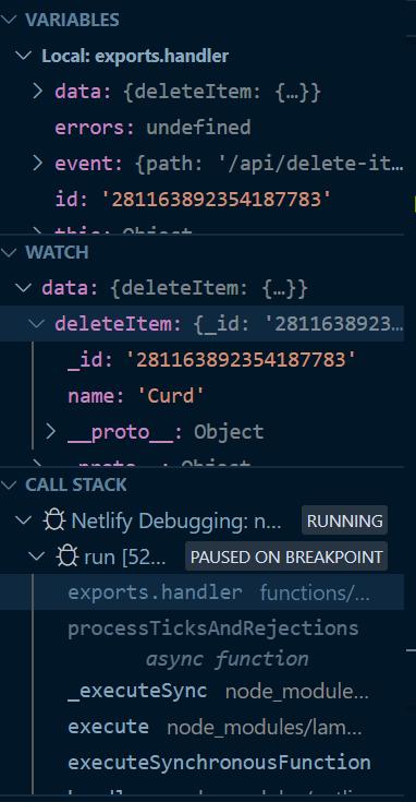 call stack debug