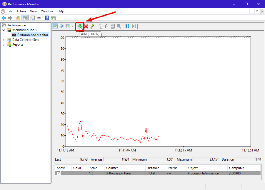 Perfmon Add Counter Screenshot