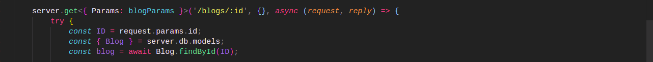 Code snippet f