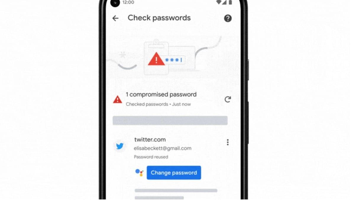 Google Password Manager screenshot