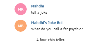 Joke asked from the bot