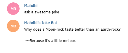 Another query from the bot