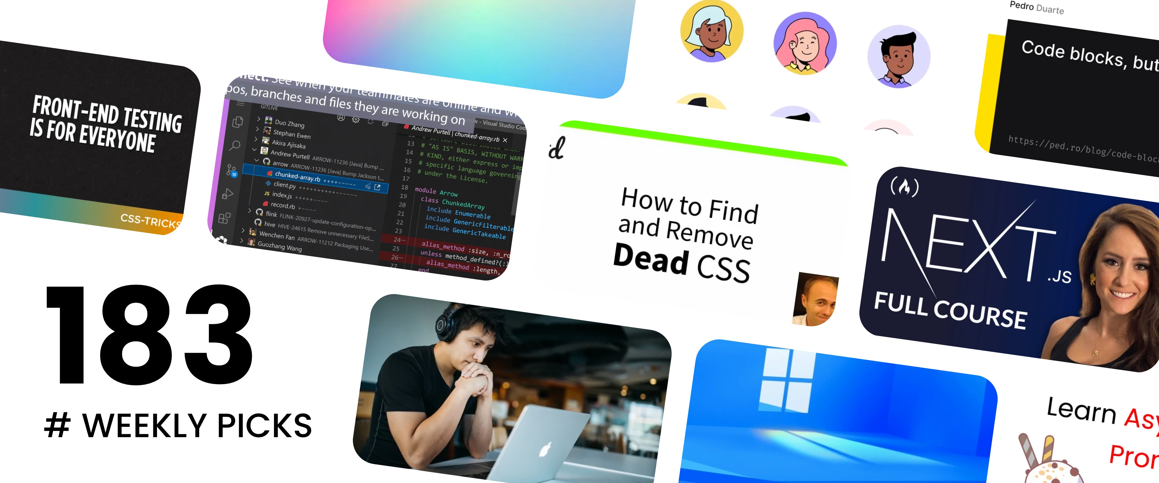 Back-end Guide, Next.js Free Course, CSS for Web Vitals - Picks 183
