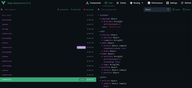 Vuex Screenshot