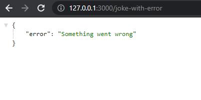 Joke with error endpoint