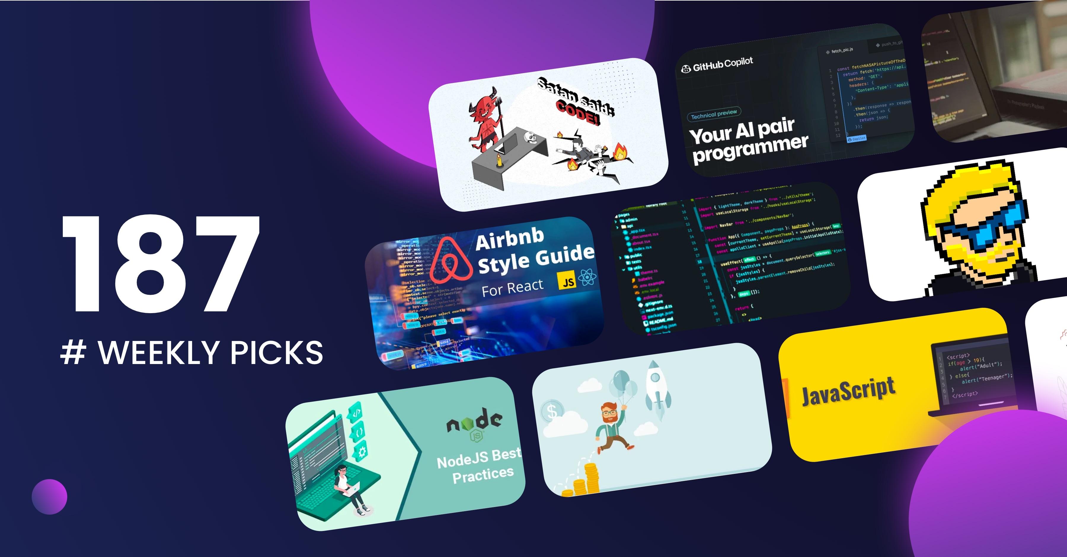 5 bad coding practices, GitHub Copilot, CRO - Week 187