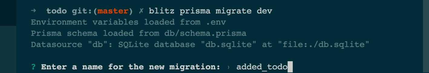 Run migrations
